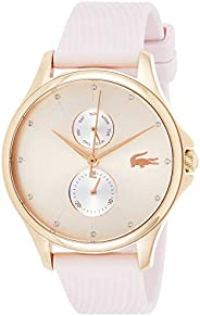 Lacoste Women'S Rose Goldtone With Sunray Dial Pink Silicone Watch - 200
