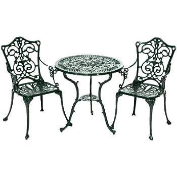 gartenset bistroset gartentisch 2 st hle eisen antik stil gartenm bel creme gr n. Black Bedroom Furniture Sets. Home Design Ideas