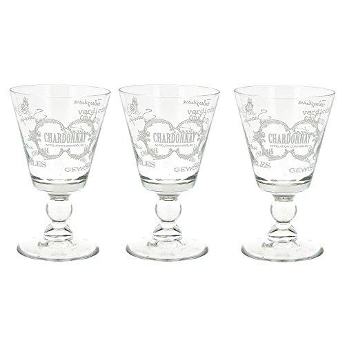 S/3 copa agua vintage cristal 9 x 9 x 14,50 cm capacidad: 315 cc.