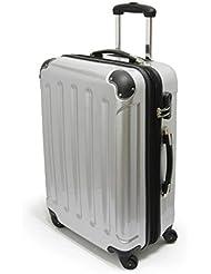 TOP-Trolley-Koffer 56cm L-Light, 4 Rollen 360°, Dehnfalte * SILBER *