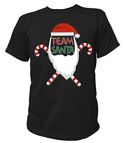 Artdiktat Herren T-Shirt - TEAM SANTA - Weihnachtsmannkostüm Größe XXXL (Grinch Kostüm Herr)