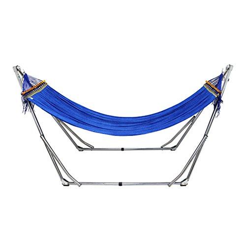 UNHO Hamaca con Soporte Plegable para Jardín Exterior Interior Viaje Camping Soporte...