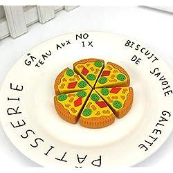 Karikatur-Pizza-geformter Radiergummi-Satz-kreative Lebensmittel-Radiergummis-Kinderbriefpapier-Versorgungsmaterialien