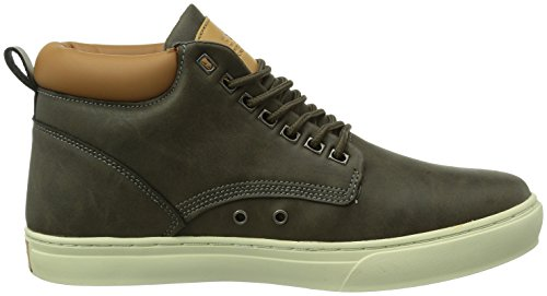 British Knights WOOD, Sneaker alta Uomo Grigio (Grau (Dk. Grey-Cognac04))