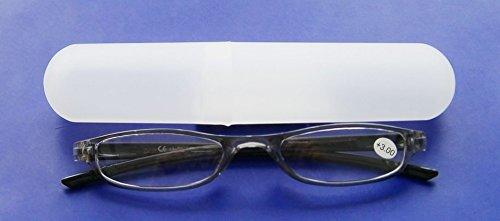 LESEBRILLE +3.00 Diop. mit ETUI schwarz Lesehilfe Sehhilfe Brille Kunststoff 05