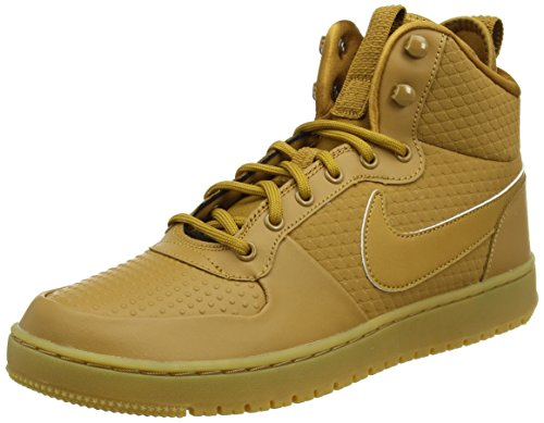 Nike Herren Court Borough Mid Winter Hohe Sneaker, Braun (Wheat/Wheat-Black-Gum Light Brown), 43 EU