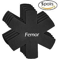 FEMOR Pfannenschoner Filz - 5er Set-Dicke 4mm, Pfannenschutz Ür Pfannen, Töpfe und Schüsseln,XXL Durchmesser 38cm