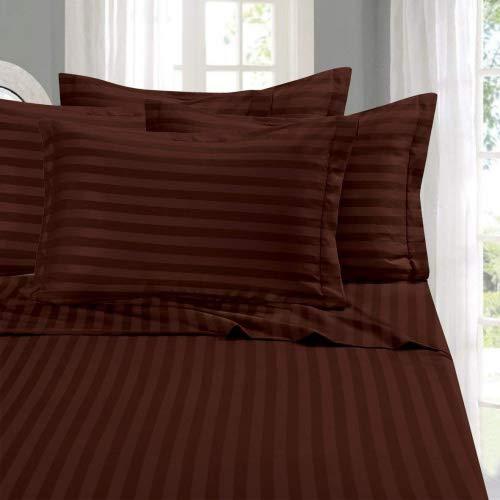 Eleganten Komfort Best, Weichsten, coziest Streifen Blatt Ever. 1500Fadenzahl Ägyptische Qualität Luxus seidig weich Falten & farbbeständige 4er Set Bed Sheet, deep Pocket bis zu 40,6cm -