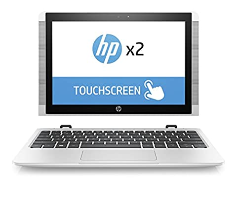 HP x2 10-p003ng (Z6K87EA) 25,7 cm (10,1 Zoll / WXGA IPS eDP) Convertible Laptop (2in1 Notebook und Tablet, Atom X5-Z8350, 128 GB eMMC, 4 GB RAM, Intel HD Graphics, Windows 10 Home) weiß