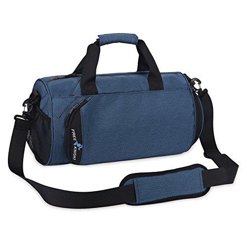 Persönliche Schließfächer (NACATIN modische Sporttasche mit Schuhfach, 25L Handgepäck Tasche 50×24×24cm,Hochwertige Gym Tasche für Männer, Frauen und Kinder (Blau))