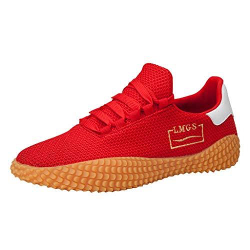 Air Mesh Sneakers,Luotuo Herren Mode Laufschuhe Atmungsaktiv Leichtgewicht Sportschuhe Mesh Tuch Upper + Rutschfest Design Outdoorschuhe Basketballschuhe Schnürer Turnschuhe