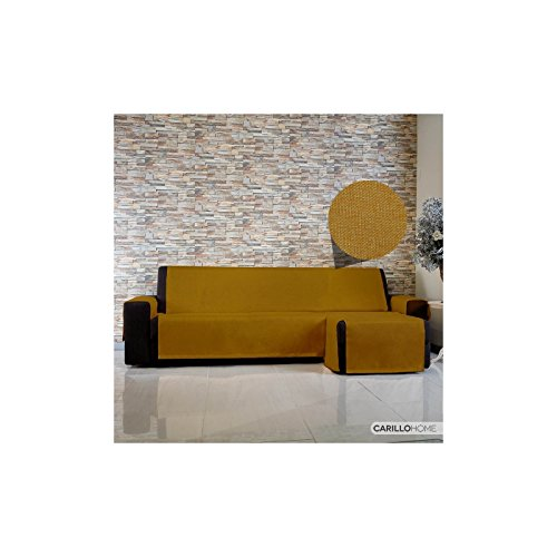 Copridivano live it con penisola - 3 posti chaise longue dx, oro