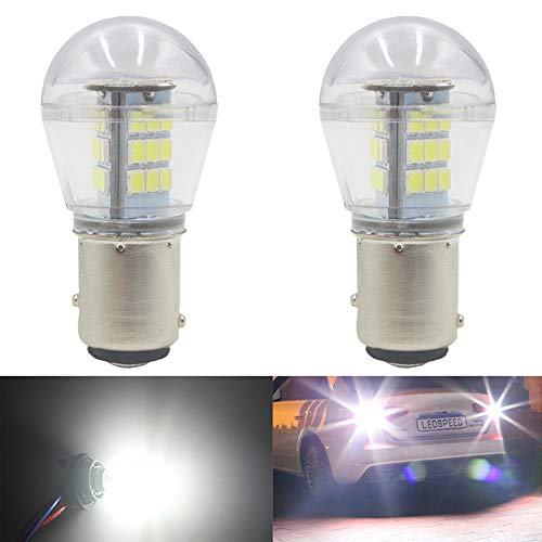 AMAZENAR 2-Pack 1157 BAY15D 1016 1034 7528 2057 2357 LED a Luce Bianca 9-30V-DC, 2835 33 SMD Lampadine di Ricambio per Interni RV Camper Tail Back Up Reverse Bulbs Day Running Light