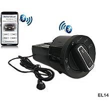 ElecGear EL14 Bluetooth App Sensor de luz Faros Interruptor, Faro Niebla Luces Antiniebla Interruptor de