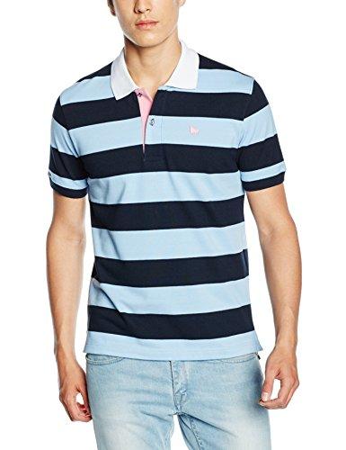 Toro Herren Poloshirt Polo M/C Rayas Marineblau
