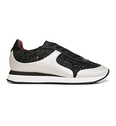 Desigual Damen Shoes_galaxy Sneaker In Pizzo Nero Schwarz