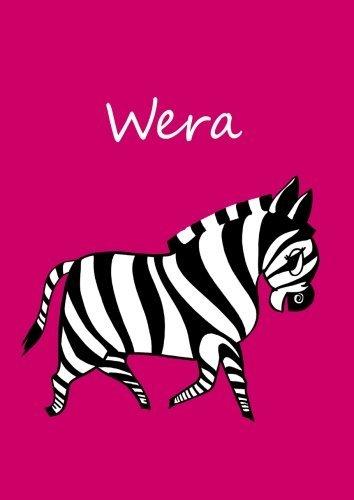 Preisvergleich Produktbild Wera: individualisiertes Malbuch / Notizbuch / Tagebuch - Zebra - A4 - blanko