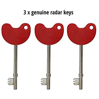 Radar NKS Disabled Key with Braile (Pack of 3)