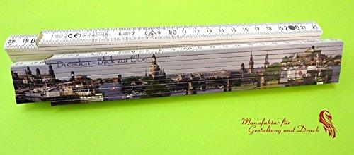 Preisvergleich Produktbild Gliedermaßstab einseitig bedruckt Motiv Dresden - Blick zur Elbe -