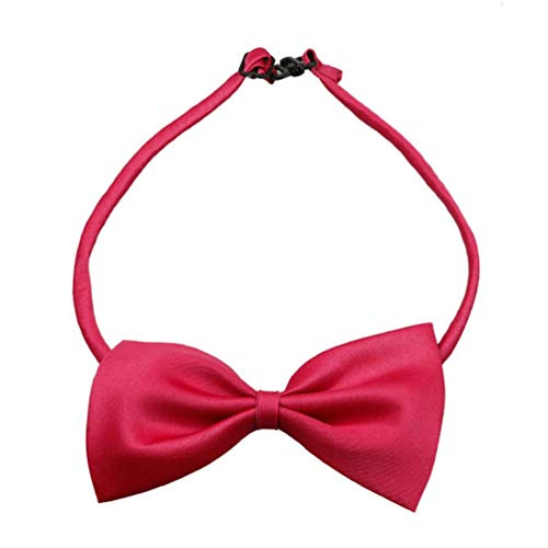 Baby Boys Girls Dog Bow Ties Pet Cat Bowties Collar for Wedding Party Decor Red