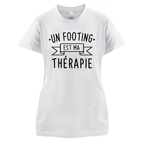 un footing est ma thérapie - Femme T-Shirt - 14 couleur Blanc