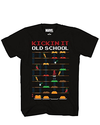 Game Kickin It Old School Taco Adult Mens T-shirt Black (Medium) (Kickin It Games)