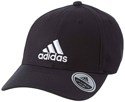 adidas Cap 6P Cotton Caps, Black/White, One Size