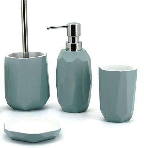 Meubletmoi Badezimmer-Set SWAP - Grau Blau - Design Zen