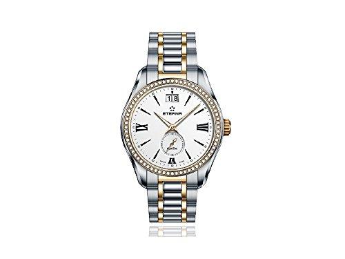 Eterna Lady KonTiki Quartz Watch, Ronda 6004.B, 36,4mm, Rose Gold, PVD, Diamonds