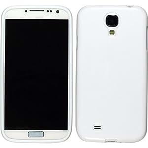 PhoneNatic Case für Samsung Galaxy S4 Hülle Silikon weiß Candy Cover Galaxy S4 Tasche + 2 Schutzfolien