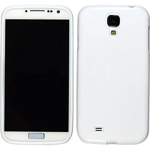 Funda de silicona para Samsung Galaxy S4 - Candy blanco - Cover PhoneNatic Cubierta + protector de