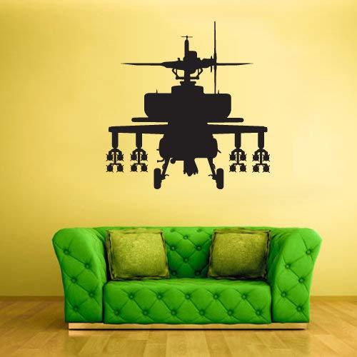 Hubschrauber Wandtattoo Chopper Copter Wandaufkleber Autogiro Dekor Schneebesen Raumdekorationen Whirlybird Kunst Vinyl Grafiken Home Boys rvz2254 (Kid Schneebesen)