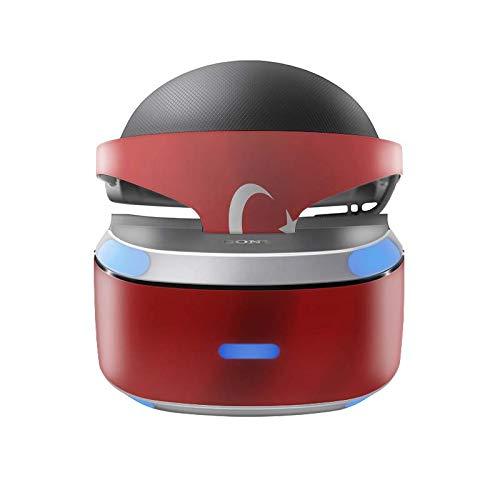 Skins4u Aufkleber Design Schutzfolie Vinyl Skin kompatibel mit Sony PS4 Playstation 4 VR Brille Türkei Waving Flag