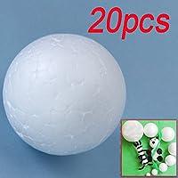20 X 6cm Blanco Modelado Artesanal Bola De Espuma De Poliestireno Esfera