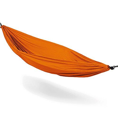 MELIANDA MA-16000 Ultraleichte Nylon Hängematte (270x140 cm, 180 kg Traglast) Outdoor Trekking Camping in Orange