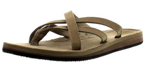 Teva Olowahu Leather W's Damen Sport- & Outdoor Sandalen Beige (sand 945)