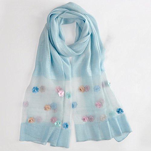 serviette de plage Version coréenne de l'écharpe Echarpes de haute qualité Echarpe sauvage châle de soie ( Couleur : #3 ) #3