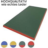 Estera de gimnasia 200 x 100 x 8 cm colchoneta verde/rojo