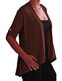 Eyecatch TM - Emily offener Damen Bolero Cardigan Große Größen