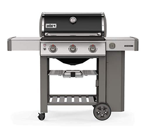 Weber Barbecue a Gas da Giardino con Ripiani Laterali e Coperchio 61011129 E-310 GBS Genesis II
