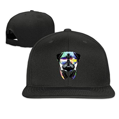 Nizefuture Cap DJ Pug with Sun Glasses Halloween