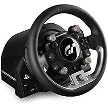 Thrustmaster T-GT - Volante de carreras para PS4 / PC con licencia oficial Gran Turismo Sport - 3 Pedales - Force Feedback