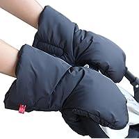 ZEEUPAI - Manoplas guantes de Forro polar impermeable a prueba de viento para cochecito carrito silla de bebé invierno