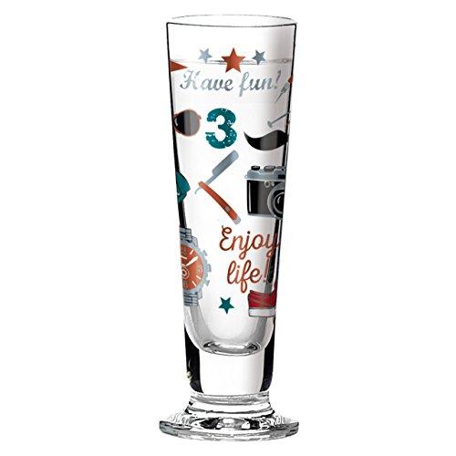 Ritzenhoff 1060234 Black Label Schnapsglas, Glas, mehrfarbig, 3.5 x 3.5 x 11.3 cm