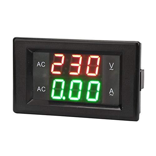 Digital Ampere Meter, LED Anzeige AC Ampere Meter Voltmeter, Hoch Präzises Dual Ampere Voltage Meter (Ampere-meter)