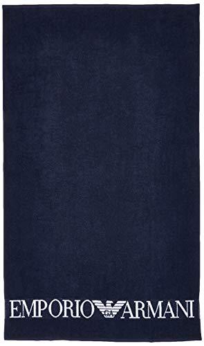 Emporio Armani Badetuch,Blau (BLU NAVY 06935) Einheitsgröße