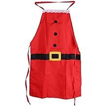 Arpoador – Delantal para adultos disfraz de Papá Noel estilo Navidad familia cena cocina hornear Chef