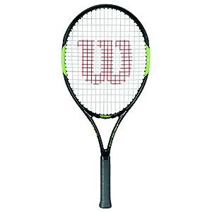 Wilson Kinder-Tennisschläger, Blade Team 23, Schwarz/Grün, Für Kinder mit einer Körpergröße von 115 bis 130 cm, WRT216300