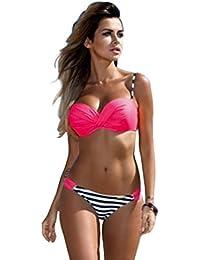 WanYang Femmes Bandeau Bikini Set Maillot De Bain Triangle Bikini Swimwear Swimsuit Beachwear 2 Pieces