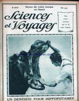SCIENCES ET VOYAGES [No 264] du 18/09/1924 - UN DENTISTE POUR HIPPOPOTAMES - LES PLUS BELLES MOSQUEES DU CAIRE